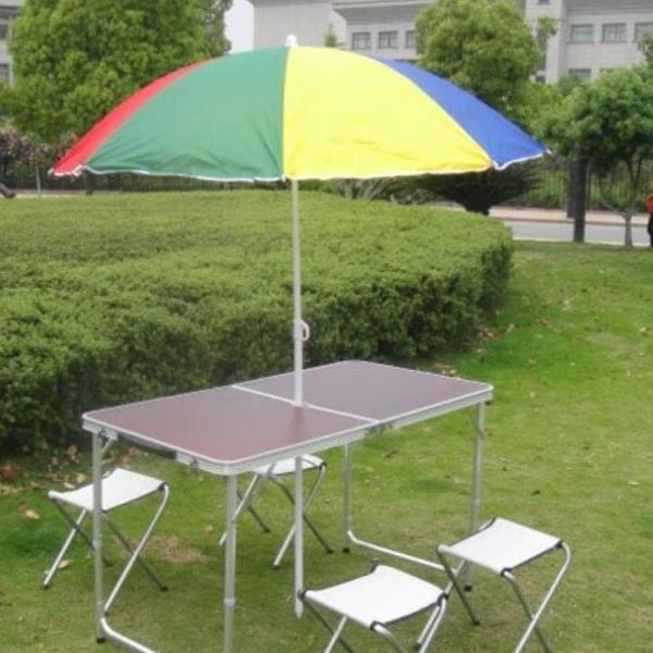 Стіл складний для пікніка зі стільцями XBL-120 (120Х60Х70 см)