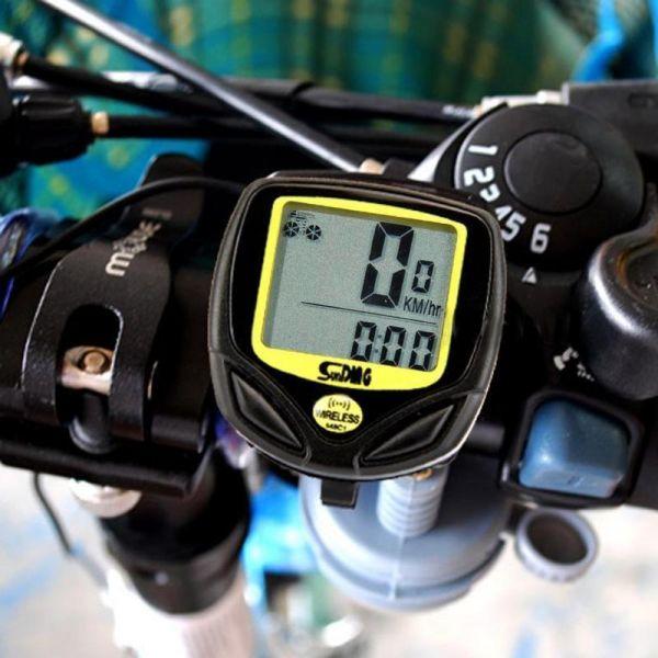 Велокомп'ютер SunDing SD-548C (беспровідний), 14 функцій