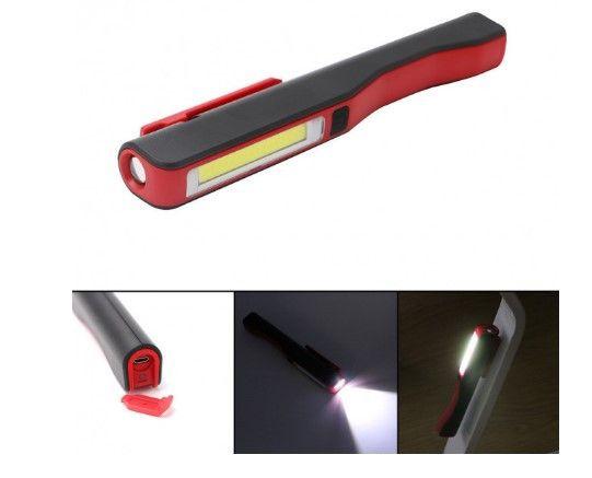 Ліхтарик аккумуляторный с магнитом и USB зарядкой MHZ BL-ESEN-86A COB