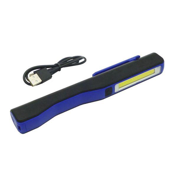Фонарик аккумуляторный с магнитом и USB зарядкой MHZ BL-ESEN-86A COB