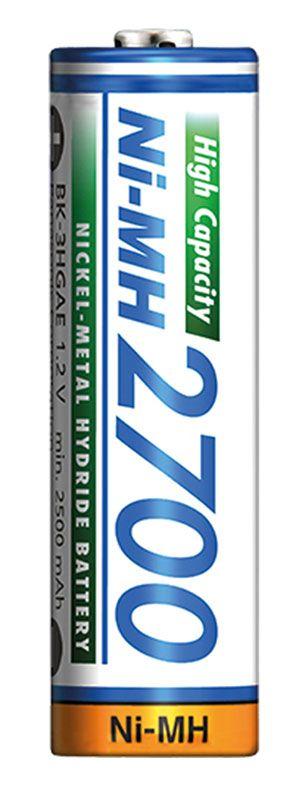 Аккумулятор Panasonic High Capacity AA 2700 мАч 4BP NI-MH 4 шт (BK-3HGAE/4BE)