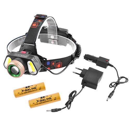 Налобний ліхтарик Police RJ-5300-T6+2COB