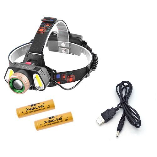 Налобний ліхтарик Police RJ-5300-T6+2COB USB
