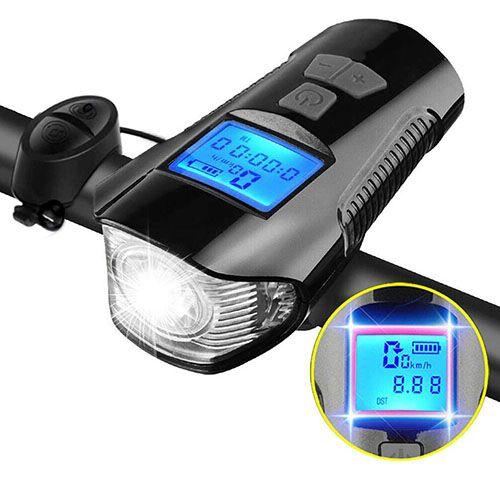 Велосипедний сигнал + спідометр + велофара XA-585-T6+2LED
