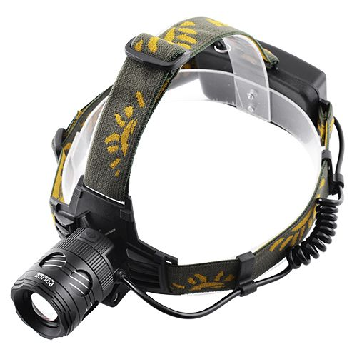 Налобний ліхтар Bailong Police BL-6813A-2XPE + Ультрафіолет