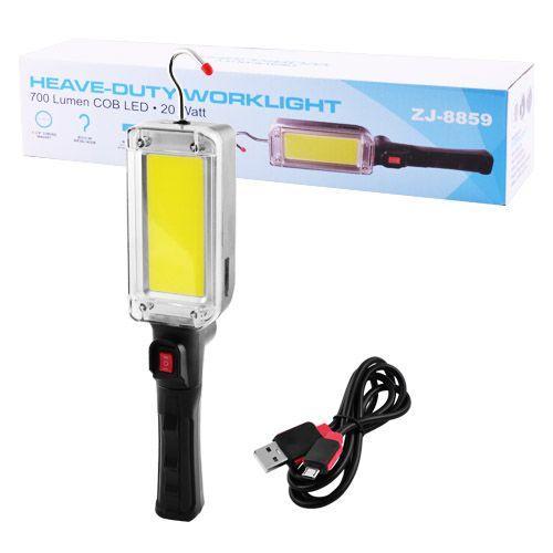 Фонарь кемпинг ZJ-8859-COB, ЗУ micro USB, 2x18650
