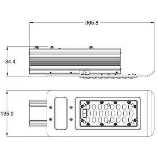 Уличный светодиодный светильник RVL-ST-LED-30W-КУ-01-УХЛ1