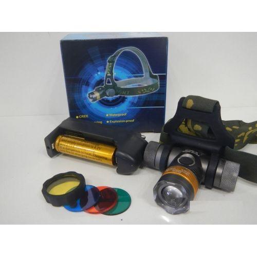 Налобный фонарик Bailong BL-H820-T6 50000W (3 фильтра)