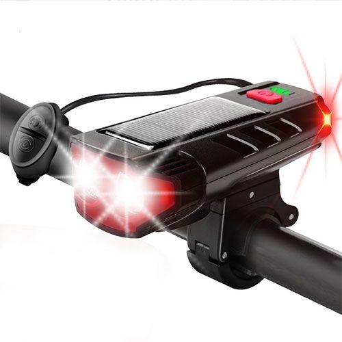 Велосипедний ліхтар з дзвінком FY-329Pro-2L2 ULTRA LIGHT