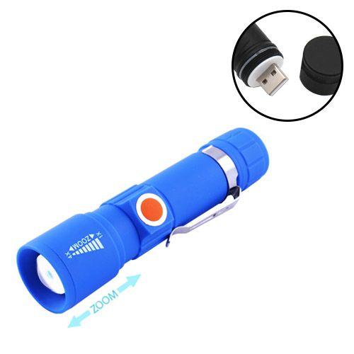 Фонарь Bailong 416-XPE, ЗУ USB, встроенный аккумулятор