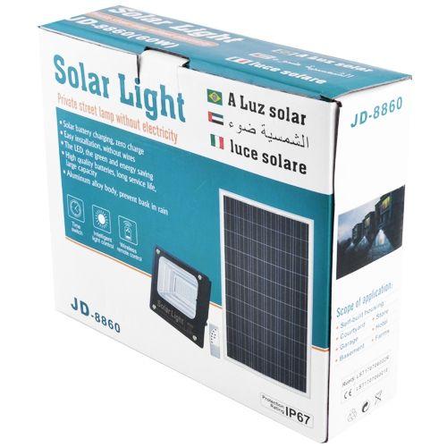 Прожектор JD-8860 60W SMD, IP67, солнечная батарея