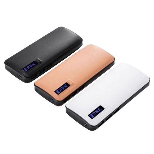 Power Bank JS-88 UNIVERSAL 8000mAh 3USB(1A+2A+3A), цифровой индикатор заряда, фонарик