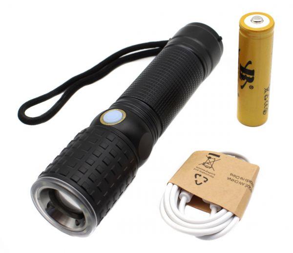 Ліхтар тактичний Police W532-T6+12SMD, ЗУ micro USB