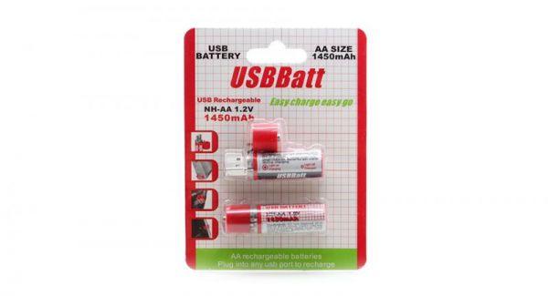 Акумуляторна батарея 2 х 1450 mAh AA USBBatt