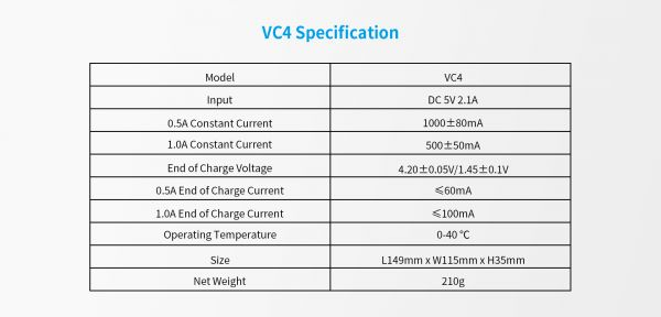 Зарядний пристрій XTAR VC4