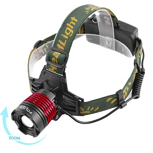 Ультрафиолетовый налобный фонарик Bailong Police BL-2188-UV