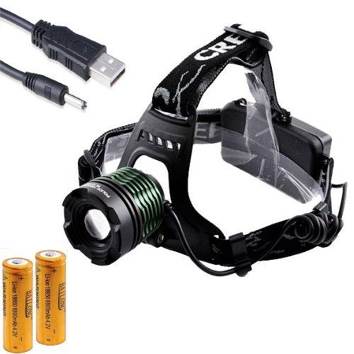 Налобный фонарик Bailong BL-2188-T6 USB