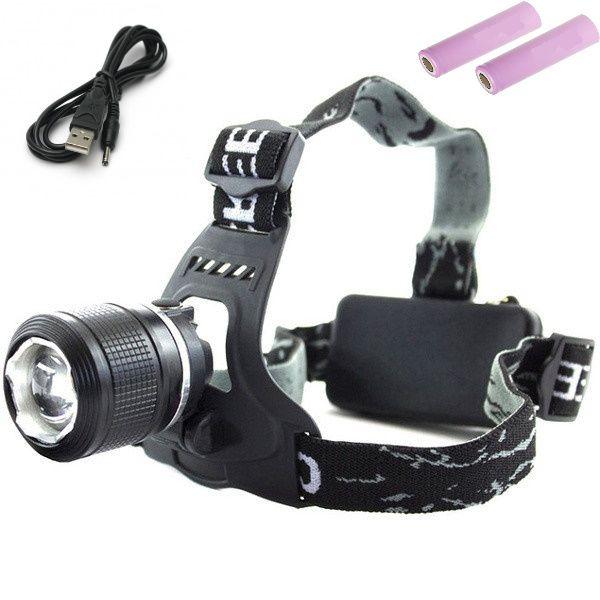 Налобний ліхтарик Bailong Bl-2199 с USB зарядкою