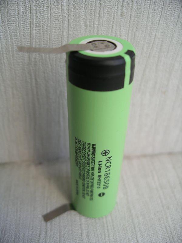 Акумулятор Panasonic 18650 NCR18650B 3400mA під пайку