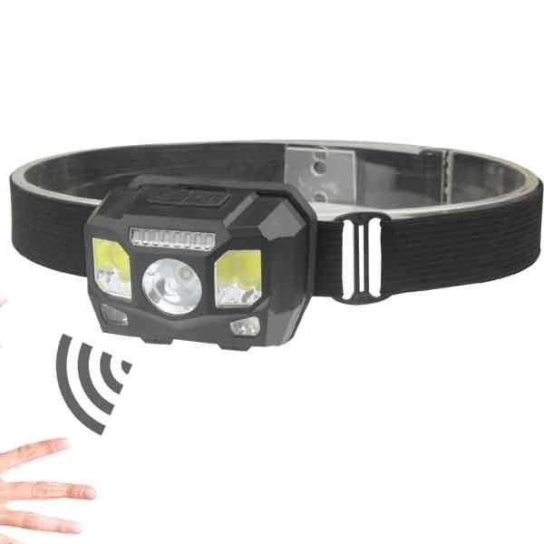 Фонарик налобный BL-0906 COB Sensor