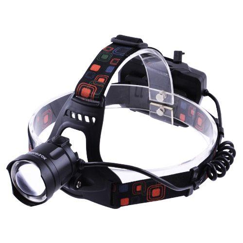 Ліхтар налобний XQ-218-HP50, ЗУ microUSB, 3x18650, signal light