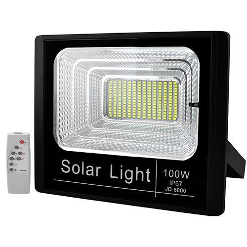 Прожектор JD-8800 100W SMD, IP67, зарядка від сонця