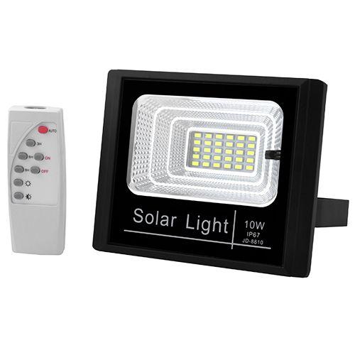 Прожектор JD-8810 10W SMD, IP67, солнечная батарея