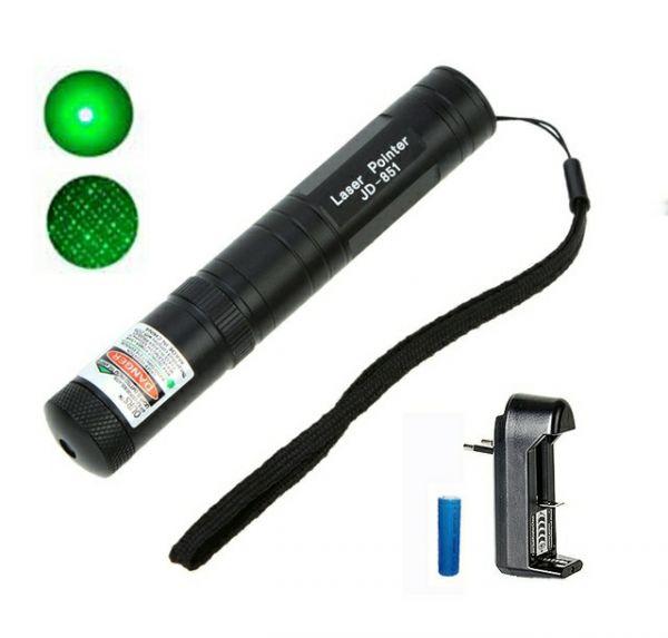 Фонарь-лазер зеленый 851