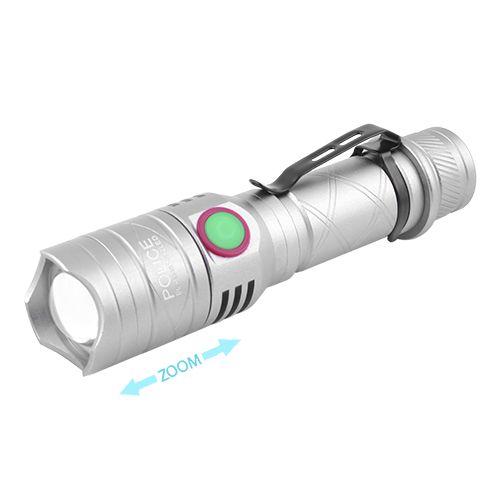 Тактичний ліхтар Police BL-8456-T6+1red+1blue