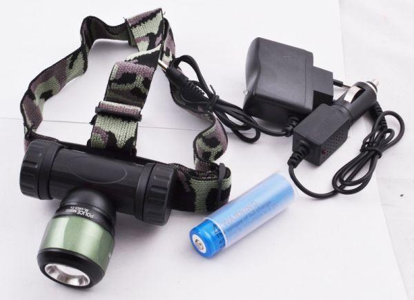 Налобный фонарь Bailong Police BL-6953 XPE