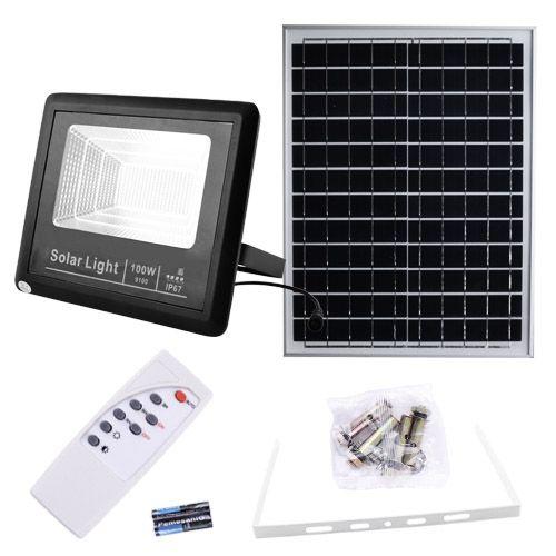 Прожектор 9100 100W SMD, IP67, сонячна панель