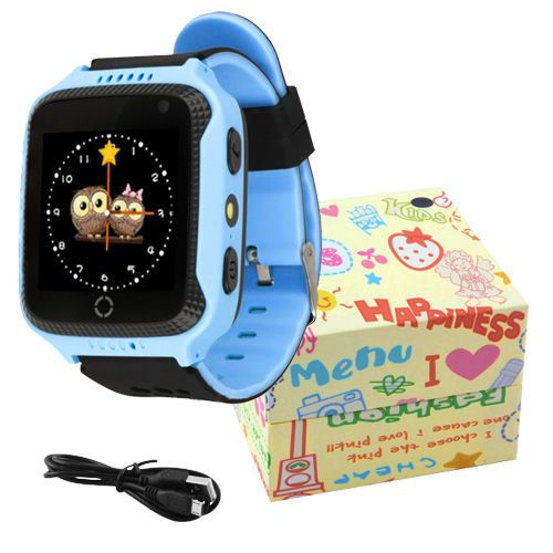 Smart годинник дитячій с  GPS Q528 + камера, Blue