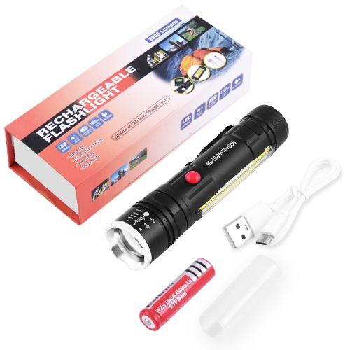Ліхтар тактичний Police T6-26+T6+COB, ЗУ micro USB