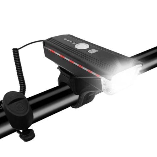 Велосипедний ліхтар з дзвінком HJ-062-XPE ULTRA LIGHT (виносна кнопка, датчик світла)