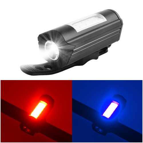 Ліхтар велосипедний 303C-XPE+RED/BLUE Проблисковий маячок