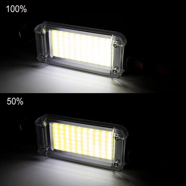 Ліхтарик кемпінговий ZJ-8859-COB, ЗУ micro USB, 2x18650